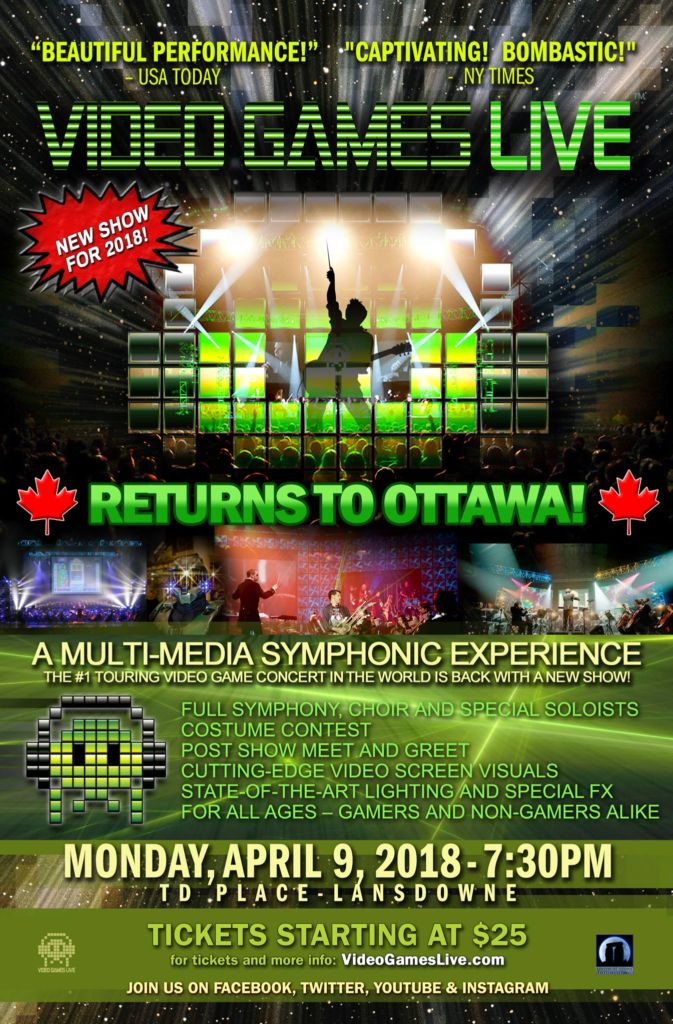 Apr 9, 2018, Video Games Live in Ottawa, ON!