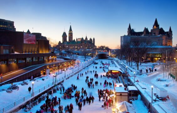 Enjoy the lengths of the icy Rideau Skateway this winter. In proximity to many downtown sights such as Confederation Park, Parliament Hill and Major's Hill Park.