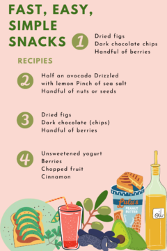 Simple snack recipes to get you excited about trying new things.
