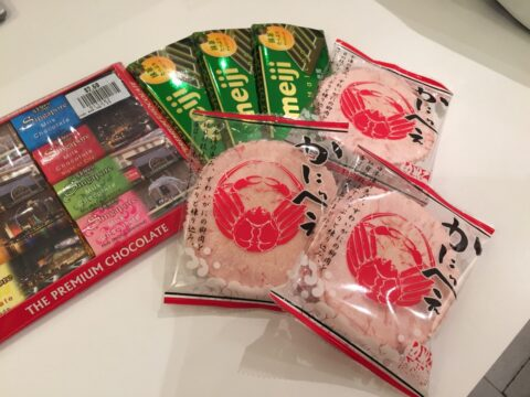 Crab cookies and chocolates are common Lunar New Year snacks.