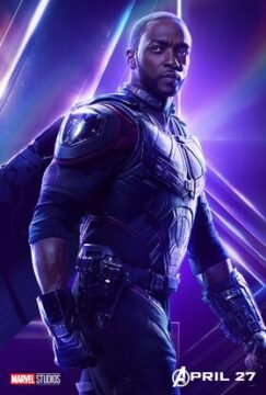 "Sam Wilson or ""the Falcon"" as he appears in Avengers: Infinity War."